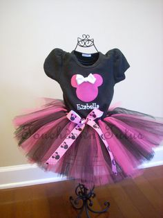 Minnie Mouse Tutu outfit by TouchdownTutus on Etsy, $44.00