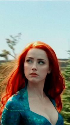 """Amber Heard as """"Mera"""" Acquaman Amber Heard, Mera Dc, Hollywood Actresses, Hot Actresses, Aquaman 2018, Cosplay, Cultura Pop, Celebrity Pictures, Redheads"""