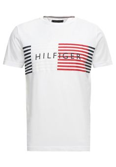 Bright white global block t shirt by TOMMY HILFIGER Tommy Hilfiger, Style  Men, Burberry bc13d626b7