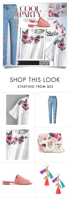 """""""shein"""" by ainzme ❤ liked on Polyvore featuring Alexander McQueen, Mansur Gavriel and INC International Concepts"""