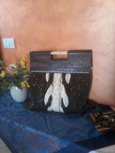 borsa in lana con trecce