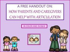 Free Handout For Parents & Caregivers On How To Help With
