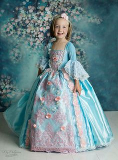 """Loving this little blonde beauty from Sweden in our blue """"Marie Antoinette"""" Photography by Fotograf OzDeleau Dress custom made in the USA by Ella Dynae Princess Dress Kids, Princess Costumes, Girl Costumes, Beautiful Dress Designs, Beautiful Gowns, Little Girl Dresses, Girls Dresses, Flower Girl Dresses, The Dress"""