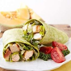 Grilled Chicken Caesar Salad Wrap --TRIED-- Absolutely fantastic!  I could have these every week.* #chickenrecipeshealthyfortwo