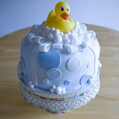 Rubber ducky fondant cake | Flickr - Photo Sharing!