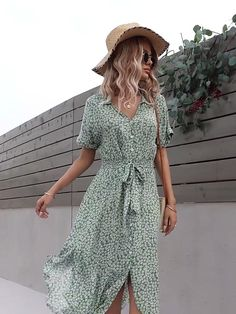 Classy Outfits, Pretty Outfits, Beautiful Outfits, Casual Outfits, Mode Outfits, Fashion Outfits, Boho Floral Dress, Look Girl, Mode Inspiration