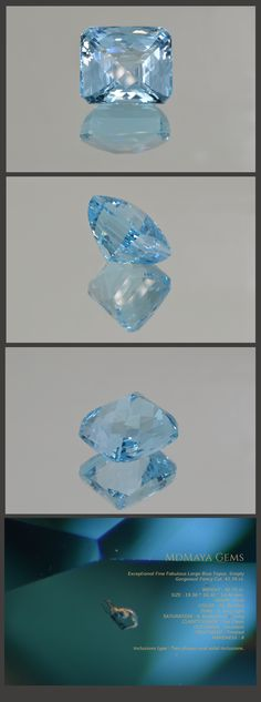 Exceptional Fine Fabulous Large Blue Topaz. Simply Gorgeous! Fancy Cut. 42.70 ct.  Loose Gemstones MdMaya Gems