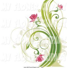Flower Drawings | Flower Clip Art © OnFocusMedia