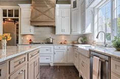 LOVE the X on the range hood! Modern Farmhouse Kitchen Design - Covered Range Hood - Wood with X Design Farmhouse Kitchen Inspiration, Farmhouse Kitchen Island, Kitchen Island Decor, Modern Farmhouse Kitchens, Rustic Kitchen, Home Kitchens, French Farmhouse, Rustic Farmhouse, Kitchen Ideas