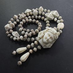 Antique Art Deco Czech Egyptian Pharoah,Scarab Uranium Glass Max Neiger Necklace  | eBay Gems Jewelry, Jewelry Accessories, Jewellery, Art Deco Necklace, Glass Necklace, Real Costumes, Antique Art, Costume Jewelry, Egyptian