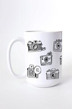 Vintage Camera Set Mug