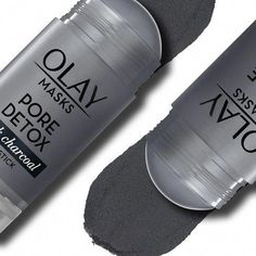 Olay Pore Detox Black Charcoal Clay Face Mask Stick Facial Cleanser - 1.7oz : Target #ClayFaceMask Charcoal Face Mask, Clay Face Mask, Clay Faces, Exfoliate Face, Skin Mask, Acne Mask, Face Skin, Cleansing Mask, Peel Off Mask