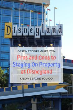 Pros and Cons to Staying On Property at Disneyland Walt Disney Vacations, Disney Resort Hotels, Disney Vacation Club, Disney World Florida, Disney Vacation Planning, Disney Travel, Disneyland Rides, Disneyland Secrets, Disneyland Hotel