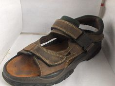 OUTBACK MENS BROWN NUBUCK LEATHER SANDALS SIZE 12 MEDIUM #Outback #SportSandals