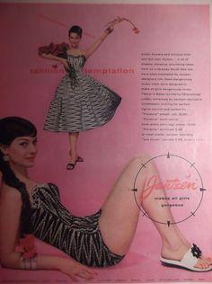 1956 JANTZEN SWIMSUIT AD Original Vintage Magazine Advertisement Swimwear Pin Up Girl Bathing Suit Ready To Frame by VintageAdGallery on Etsy https://www.etsy.com/listing/183810459/1956-jantzen-swimsuit-ad-original
