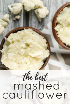 The Best Mashed Cauliflower - Slender Kitchen. Works for Gluten Free, Low Carb, Vegetarian and Weight Watchers® diets. 126 Calories.