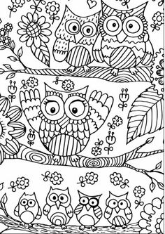 More Eclectic Owls: An Adult Coloring Book (Eclectic Coloring Books) (Volume Owl Coloring Pages, Adult Coloring Book Pages, Printable Coloring Pages, Coloring Sheets, Coloring Pages For Kids, Coloring Books, Owl Crafts, Embroidery Patterns, Painting