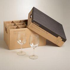 Wine Glass Entertaining Set at Cost Plus World Market >> #WorldMarket Thanksgiving Entertaining #Holiday