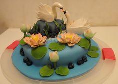 Swan cake https://www.facebook.com/pages/Beyond-Sugar/407690592676928?sk=photos_stream