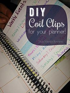 I love the new Erin Condren Coil Clips, but the official clips are a bit pricey So I made my own! This simple project takes about five minutes!