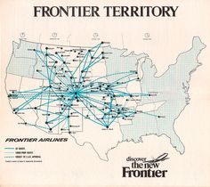 More old airline route maps.