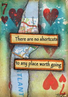 Altered playing card by M.J. Chadbourne, Desert Dream Studios, All Rights Reserved/Copyright 2013. The Spoken Soul - online class on Artful Gathering!