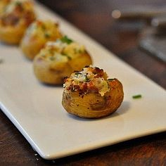 Wedding Appetizer Ideas could these be mini twice baked potatoes