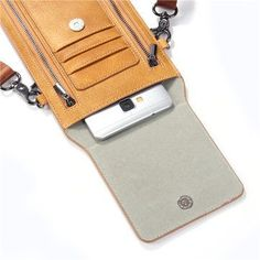 Vintage PU Leather Card Holder 5.5inch Phone Bag Shoulder Bag Crossbody Bags