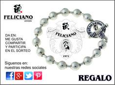 Hola Feliciamig@s. Feliciano quiere agradeceros vuestra confianza con una tarjeta regalo.  Entra en Facebook/felicianojoyeros y da un me gusta/compartir y entraréis en el sorteo de esta pulsera, que tendrá lugar en el mes de Julio. Buena suerte.