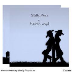 Western Wedding Blue Card