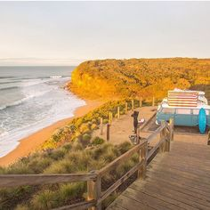 Home is where you park it suiting up at Bells Beach with my #64SeaGypsy  photo by @shotbygrace for @slowtravelmagazine  _ Great nights rest in Bella her pop top and interior stove really made all the difference thank you @hireakombi  this photo was taken before my very first surf at this sacred playground with great friends tap for details  please do get out and #seeaustralia brave souls   _ #greatocean73 #travel #roadtrip #bellsbeach #australia #winter #singlefin #kombi #vw #simplelife…