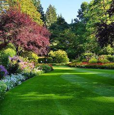 All about backyard landscaping ideas at an affordable price, small, layout, terrace, easy to maintai Garden Arbor, Lush Garden, Dream Garden, Garden Cottage, Large Backyard Landscaping, Landscaping Ideas, Acreage Landscaping, Big Backyard, Pergola Patio