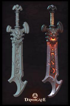ArtStation - Dawngate Voluc's Sword, Trevor Carr