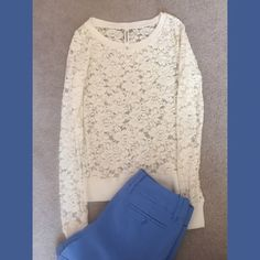 Aeropostale top Off white lace top by Aeropastle in XS. Aeropostale Tops Tees - Long Sleeve