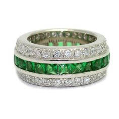 The Emerald Hollywood Fantasy Eternity Ring - Polyvore