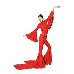 GARETH PUGH Silk Chiffon Long Train Trousers ($2,462) ❤ liked on Polyvore