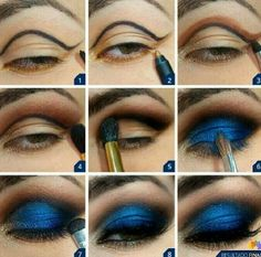 royal blue makeup