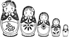 Babushka dolls set of 177..... Embroidery patterns