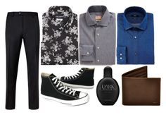 """002"" by newbourn on Polyvore featuring Gitman Bros., Dolce&Gabbana, BOSS Hugo Boss, Ted Baker, Converse, Calvin Klein, Huckle & Harper, men's fashion and menswear"