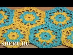 Joining Crochet Motifs With Flower Together Урок 39 часть 2 из 2 Шестиуг...