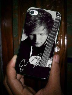 ED SHEERAN and GUITAR grayscale customized iPhone case for iPhone 4 case, iPhone 5 case and Samsung galaxy s3