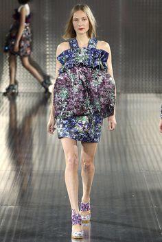 Swedish model Erika Wall for Mary Katrantzou, Spring 2014.