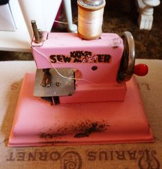 KayBe Sew Master PINK Toy Sewing Machine by VintageGalStyle, $21.00