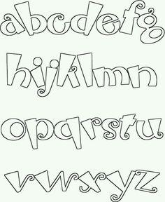 Alphabet Color Pages Doodle Fonts, Doodle Lettering, Creative Lettering, Lettering Styles, Graffiti Lettering, Block Lettering, Brush Lettering, Hand Lettering Alphabet, Calligraphy Letters