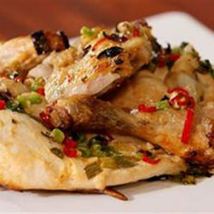 Try this Lemon and Garlic Butterflied Chicken recipe by Chef Justine Schofield . This recipe is from the show Everyday Gourmet. Butterflied Chicken, Spatchcock Chicken, Healthy Chicken Recipes, Turkey Recipes, New Recipes, Chicken Skin, Main Dishes, Garlic, Dinners