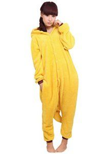 Très Chic Mailanda Unisexe Pikachu Kigurumi Cosplay Combinaison Pyjama ou Déguisement (Pikachu L)