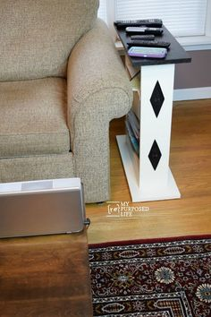 When you can't find a small sofa side table to suit your needs, just DIY it! Build your own custom table with these easy to follow step by step directions.