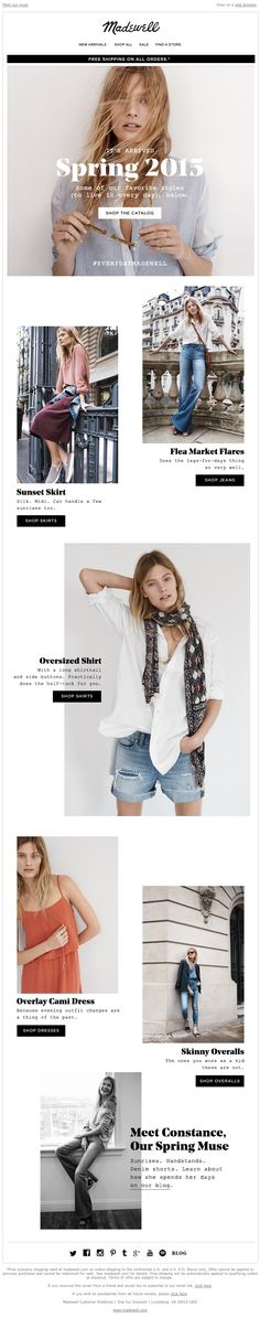 Madewell - Our spring catalog is finally here