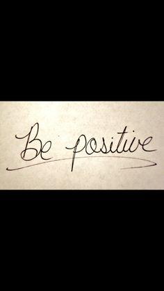 Negatieve  gedachtes zijn niet goed  voor je  en  als  je  positief  in je  schoenen  staat  kom je verder  dan dat je negatief  denkt
