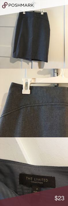 The limited grey pencil skirt Size 2, grey, worn maybe 3 times The Limited Skirts Pencil